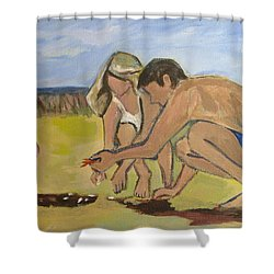 Shower Curtain featuring the painting Eternal Offering by Betty Pieper