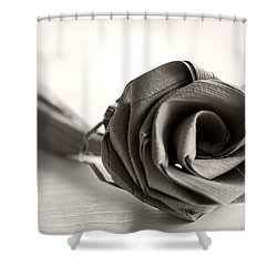 Eternal Rose In Sepia Shower Curtain