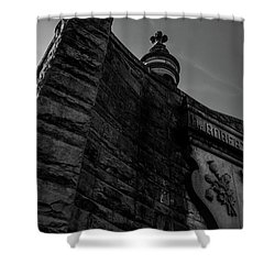 Eternal Stone Structure Bw Shower Curtain