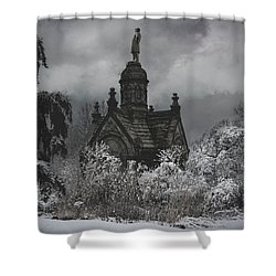 Shower Curtain featuring the digital art Eternal Winter by Chris Lord