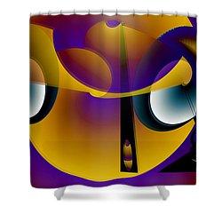 Eternity Clock Shower Curtain by Helmut Rottler