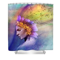 Ether Shower Curtain by Scott Meyer