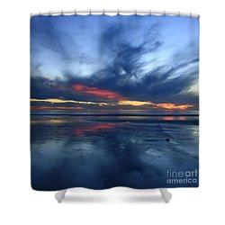 Ethereal Beach Blues Shower Curtain