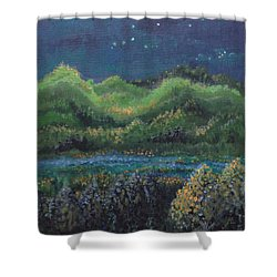Shower Curtain featuring the painting Ethereal Reality by Holly Carmichael