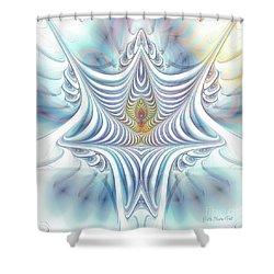 Shower Curtain featuring the digital art Ethereal Treasure by Jutta Maria Pusl