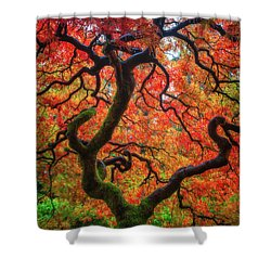 Ethereal Tree Alive Shower Curtain