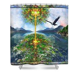Etheric Lake Shower Curtain