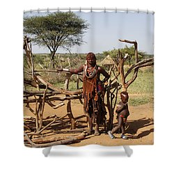 Ethiopia-south Mother And Baby No.2 Shower Curtain