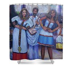 Ethiopian Ladies Shoulder Dancing Shower Curtain
