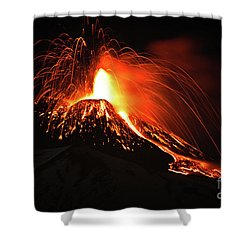 Italy, Sicily,etna Shower Curtain by Bruno Spagnolo