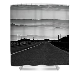 Etna Road Shower Curtain