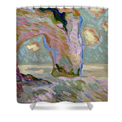 Etretat -1 Shower Curtain by Pierre Van Dijk