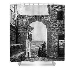 Etruscan Arch B/w Shower Curtain