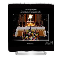 Eucharist I Am The Bread Of Life Shower Curtain by Rose Santuci-Sofranko