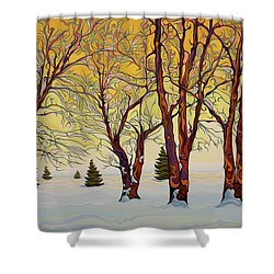 Euphoric Treequility Shower Curtain
