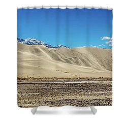 Shower Curtain featuring the photograph Eureka Dunes - Death Valley by Peter Tellone