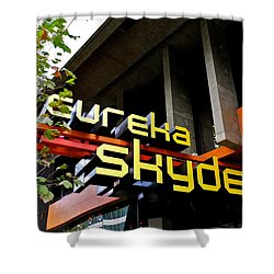 Shower Curtain featuring the photograph Eureka Skydeck In Melbourne by Kirsten Giving