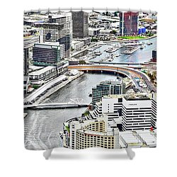 Eureka Skydeck View I Shower Curtain by Kirsten Giving