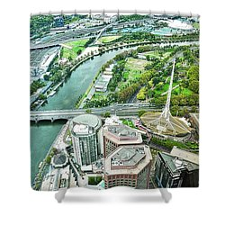 Eureka Skydeck View I V Shower Curtain by Kirsten Giving