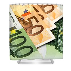 Euro Banknotes Shower Curtain