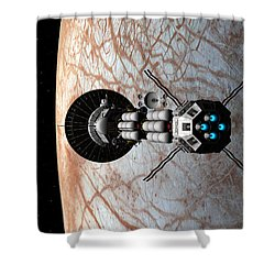 Europa Insertion Shower Curtain by David Robinson