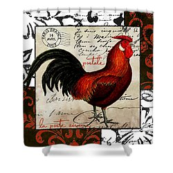 Europa Rooster II Shower Curtain by Mindy Sommers