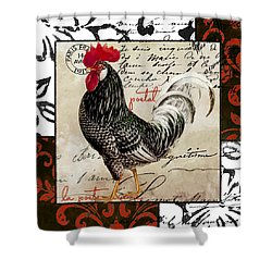 Europa Rooster IIi Shower Curtain by Mindy Sommers