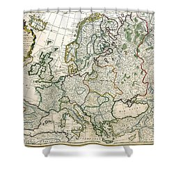 Europe On The Verge Of Revolution Shower Curtain by Jean Claude Dezauche