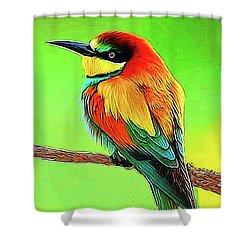 European Bee Eater Shower Curtain