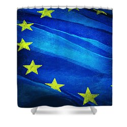 European Flag Shower Curtain by Setsiri Silapasuwanchai