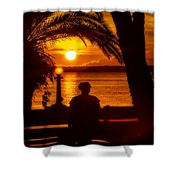 Shower Curtain featuring the photograph Eustis Sunset by Christopher Holmes