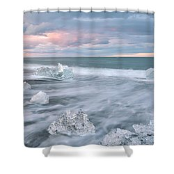 Shower Curtain featuring the photograph Evanescence Of Jokulsarlon  by Dustin  LeFevre