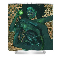 Shower Curtain featuring the painting Eve by Ragen Mendenhall