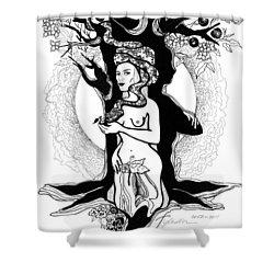Eve Shower Curtain by Yelena Tylkina