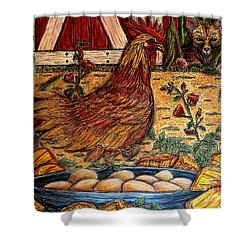 Even Chickens Can Be Heroes Shower Curtain