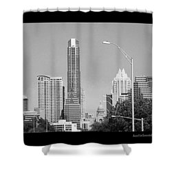 Even In #blackandwhite, The #skyline Of Shower Curtain