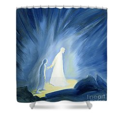 Even In The Darkness Of Out Sufferings Jesus Is Close To Us Shower Curtain by Elizabeth Wang