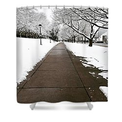 Winter Walks  Shower Curtain by Cyrionna The Cyerial Artist
