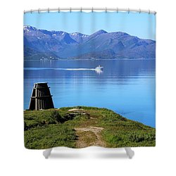 Evenes, Fjord In The North Of Norway Shower Curtain