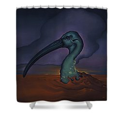 Evening And The Hiss Of Sadness Shower Curtain