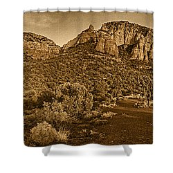 Evening At Dry Creek Vista Tnt Shower Curtain