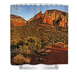 Evening At Dry Creek Vista Txt Shower Curtain