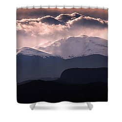 Evening At Evans Shower Curtain