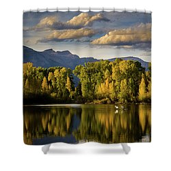 Evening At Indian Springs Shower Curtain
