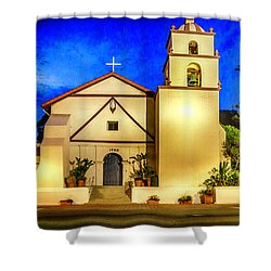 Evening At Mission San Buenaventura Shower Curtain