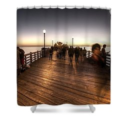 Evening At Oceanside Pier Shower Curtain