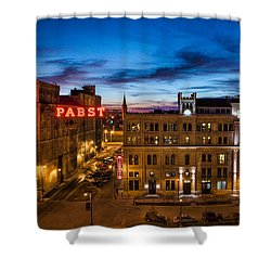 Evening At Pabst Shower Curtain by Bill Pevlor