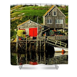 Evening At Peggys Cove Shower Curtain by Ken Morris