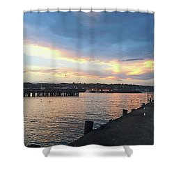Shower Curtain featuring the photograph Evening At The Bay by Nareeta Martin
