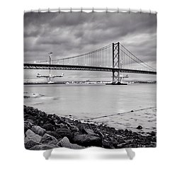 Evening At The Forth Road Bridges Shower Curtain
